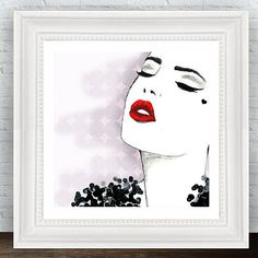 Glam Wall Art Fashion Illustration Prints от ArtBoutiqueButterfly