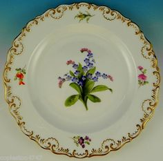 Meissen Forget Me Not Plate