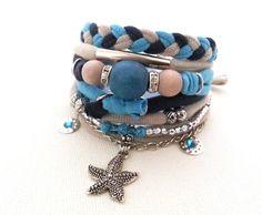 Hey, I found this really awesome Etsy listing at https://www.etsy.com/ru/listing/470827782/multistrand-bracelet-sand-sky-navy-multi
