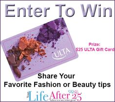 Share Your #Beauty Tips and Enter For A Chance To WIN a $25 @ULTA_Beauty Gift Card via @Your Life After 25 Da Vinci!