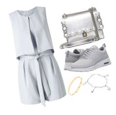"""""""Casual Grey"""" by pitaa29 on Polyvore featuring Miss Selfridge, Fendi, NIKE and Cartier"""