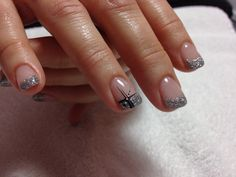 Silver gel with black and white lining#trends#beauty#winter#christmas