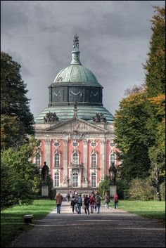The New Palace is a palace situated on the western side of the Sanssouci royal park in Potsdam, Germany. The building was begun in 1763, after the end of the Seven Years' War, under Frederick the G...