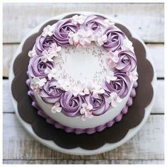 CAKE Buttercream Flowers Cake Frosting Recipes Simple Decorating