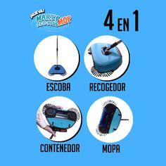 24,99€ -- Barredora con mopa 4 en 1 Marty Eco-Plus Mop funciona por energía cinética, sin cables, sin pilas, sin electricidad... todo se activa cuando la mueves presionando. Movie Posters, Dustpan, It Works, Home, Film Poster, Billboard, Film Posters