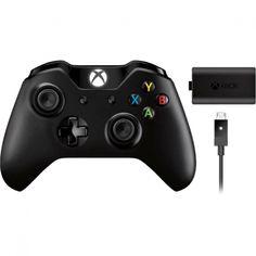 Microsoft Wireless Controller + Accessory, for Xbox One, Black