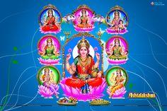 Goddess Ashta Lakshmi Wallpapers Free Download