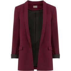 Textured Blazer ($59) ❤ liked on Polyvore featuring outerwear, jackets, blazers, lined jacket, purple blazer, polka dot jacket, textured jacket and polka dot blazer