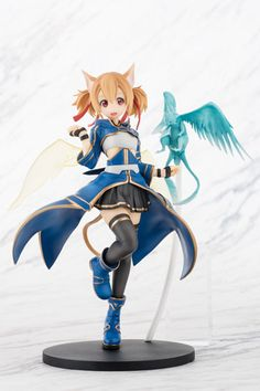 Silica 1/8th Scale Figure: Sword Art Online II- From the popular anime series 'Sword Art Online' comes a figure of the Beastmaster, Silica! She is sculpted in a playful pose while Pina, her tamed Feathery Dragon, looks ready to land on her arm.