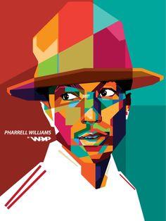 Pharrell Williams in WPAP by dhe-art.deviantart.com on @deviantART