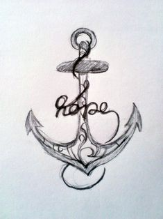 Anchor tattoo.. I would love this to say Marino (my last name) instead of hope