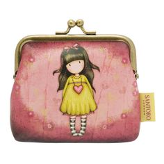 "Gorjuss 4"" Clasp Purse - Heartfelt £13.00 Material: Leather-effect PU. Approx. Size: 10 cm wide and 10 cm high."