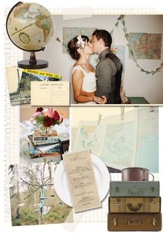 vintage travel wedding - for your future wedding to your perfect international travel partner in life. Wedding Themes, Wedding Designs, Wedding Events, Wedding Reception, Our Wedding, Dream Wedding, Themed Weddings, Wedding Ideas, Vintage Travel Decor