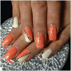 One of my personal favs using Calgel extension system and swarowski crystals cx
