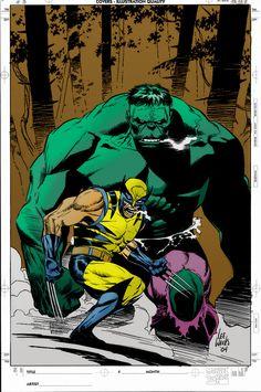 Wolverine and Hulk by Lee Weeks