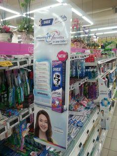 Darlie Whitening 1+7 Benefits Shelf Banner Display