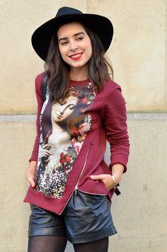 http://www.helloitsvalentine.fr/1224725/roses/ - @renederhy sweatshirt & fedora hat