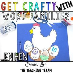 Make learning word families fun with this CVC word family craft!  Perfect for literacy or reading centers, Daily 5 word work, or as a whole group activity!  Grab you FREE download today!