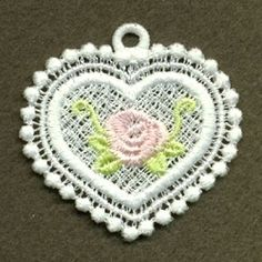 FSL Rose Pendant 8 - 4x4 | FSL - Freestanding Lace | Machine Embroidery Designs | SWAKembroidery.com Ace Points Embroidery