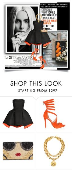 """""""be yourself"""" by lifestyle-ala-grace ❤ liked on Polyvore featuring J.Crew, Parlor, Schutz, Alice + Olivia and Chanel"""