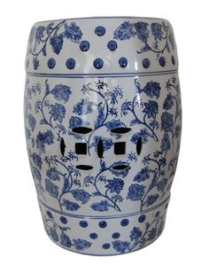 Ceramic Stool, Blue and White -   Interiors Online - Furniture Online & Decorating Accessories
