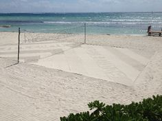 Secrets Silversands Riviera Cancun: The Beach - can't wait to play volleyball here!
