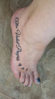 My amazing foot tattoo - alis volat propriis