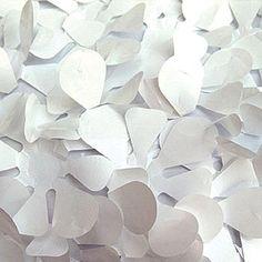 White Vinyl Floral Sheeting