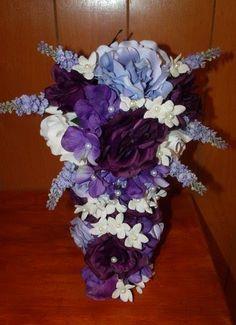 Blue, Purple, Lavender - Silk Wedding Flowers For Less!