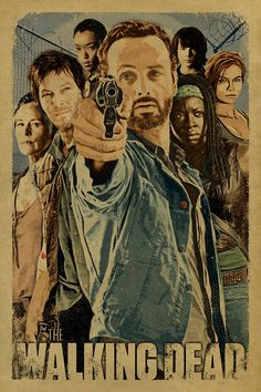 12x 18 on #65 cover weight kraft paper  Up for your consideration is a tribute to The Walking Dead featuring Rick, Daryl, Carol, Glenn, Maggie, Michonne, Sasha and Carl. AMCs The Walking Dead is a American post-apocalyptic horror drama television series It is based on the comic book series of the same name. The group fight to survive in post-apocalyptic world dominated by flesh-eating zombies. This print is not available in any other sizes. Colors may vary slightly due to the printing…