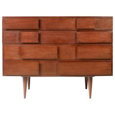 A Commode by Gio Ponti | From a unique collection of antique and modern commodes and chests of drawers at https://www.1stdibs.com/furniture/storage-case-pieces/commodes-chests-of-drawers/