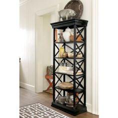 Bourdonnais Bookcase - Pine Bookcase - Exclusive Bookcase - X-shaped Book Case