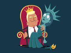 Trump by vainui de castelbajac #Design Popular #Dribbble #shots