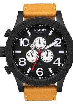 Nixon 51-30 Chrono Leather All Black Goldenrod watch is now available on Watches.com. Free Worldwide Shipping & Easy Returns. Learn more.