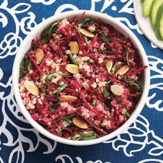 Spice up your quinoa bowl tonight with some sesame, ginger and beets for a flavour-packed twist. Quinoa Recipes Easy, Beet Recipes, Vegetable Recipes, Easy Dinner Recipes, Cooking Recipes, Healthy Recipes, Couscous, Quinoa Bowl, Quick Meals