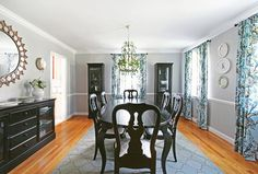 Black painted Queen Anne Dining Room Table | ranch | Pinterest ...