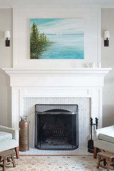 Fireplace in a character home on West 10th Avenue in Vancouver by Madeleine Design Group. *Re-pin to your own inspiration board* Character Home, Inspiration Boards, Vancouver, Abstract Art, This Is Us, Group, Interior Design, Projects, Home Decor