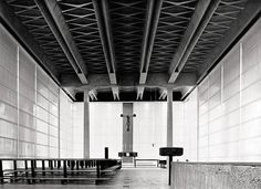 His designs attest to immense creative powers and are as unusual as is he: Angelo Mangiarotti. Sacred Architecture, Tectonic Architecture, Public Architecture, Architecture Visualization, Interior Architecture, Modern Church, Mid-century Interior, Church Design, Brutalist