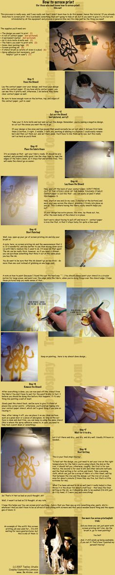 Fakie Screen Printing Tutorial by `taeliac on deviantART