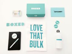 Learn how to create a new hire kit to onboard your employees and welcome them to your team. See how the startup Boxed created their kit and used custom stickers. Onboarding New Employees, Order Custom Stickers, Office Kit, Company Swag, Industrial Packaging, Swag Ideas, Promo Gifts, Employer Branding, Guest Gifts