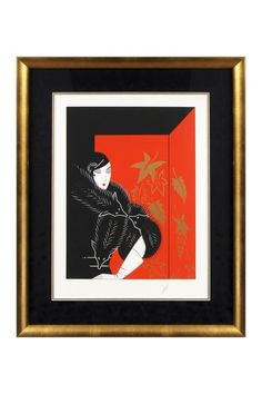 Furs Limited Edition Serigraph on Paper, Hand Signed Custom Framed - 30 x 35  by Gatsby: Erte Fine Art on @HauteLook