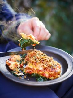 Jamie's crispy duck lasagne is a great twist on the classic made with a delicious slow cooked duck ragu and fresh homemade pasta; indulgent comfort food.