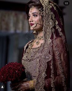 Asian Bridal Dresses, Asian Wedding Dress, Pakistani Wedding Outfits, Indian Bridal Outfits, Indian Bridal Fashion, Indian Bridal Wear, Pakistani Wedding Dresses, Party Kleidung, Pakistani Bridal Makeup