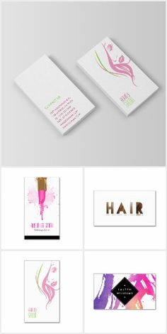 Beauty, Hair and Makeup Business Cards Collection. More than 20 beautiful and well designed business cards for people and businesses in the beauty industry. Whether you are a Makeup Artist, a Hair Styler or a Nail Technician the customizable business cards templates in this collection will represent your business in a professional manner.
