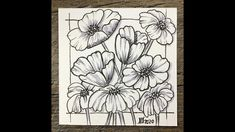 Easy meditative drawing - Poppy Flowers - #inspiration #Drawing #relaxation #positivity #withme - YouTube Fabric Paint Designs, Drawing Sketches, Drawings, Poppy Flowers, Zen Doodle, Sharpie, Poppies, How To Draw Hands, Meditation
