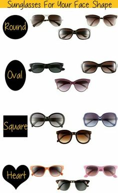 Sunglasses for your face shape