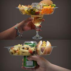 Une assiette à trou « special soirées cocktail »