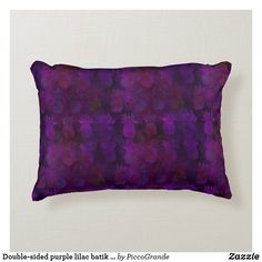 Double-sided purple lilac batik style and custom accent pillow Purple Accents, Purple Lilac, Pink, Soft Pillows, Accent Pillows, Personalized Buttons, Batik Pattern, Pillows Online, Pineapple Pattern