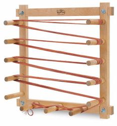 Warping Boards are the most commonly used measuring devices for weaving. This yard warping board is produced by Schacht in the US and available from The Woolery. Weaving Tools, Tablet Weaving, Weaving Projects, Loom Weaving, Tapestry Weaving, Hand Weaving, Inkle Loom, Weaving Textiles, Weaving Patterns