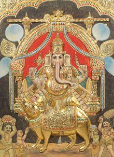 Lord Ganesh a! Shri Ganesh, Ganesha Art, Lord Ganesha, Krishna, Lord Shiva, Mysore Painting, Tanjore Painting, Kali Hindu, Hindu Art